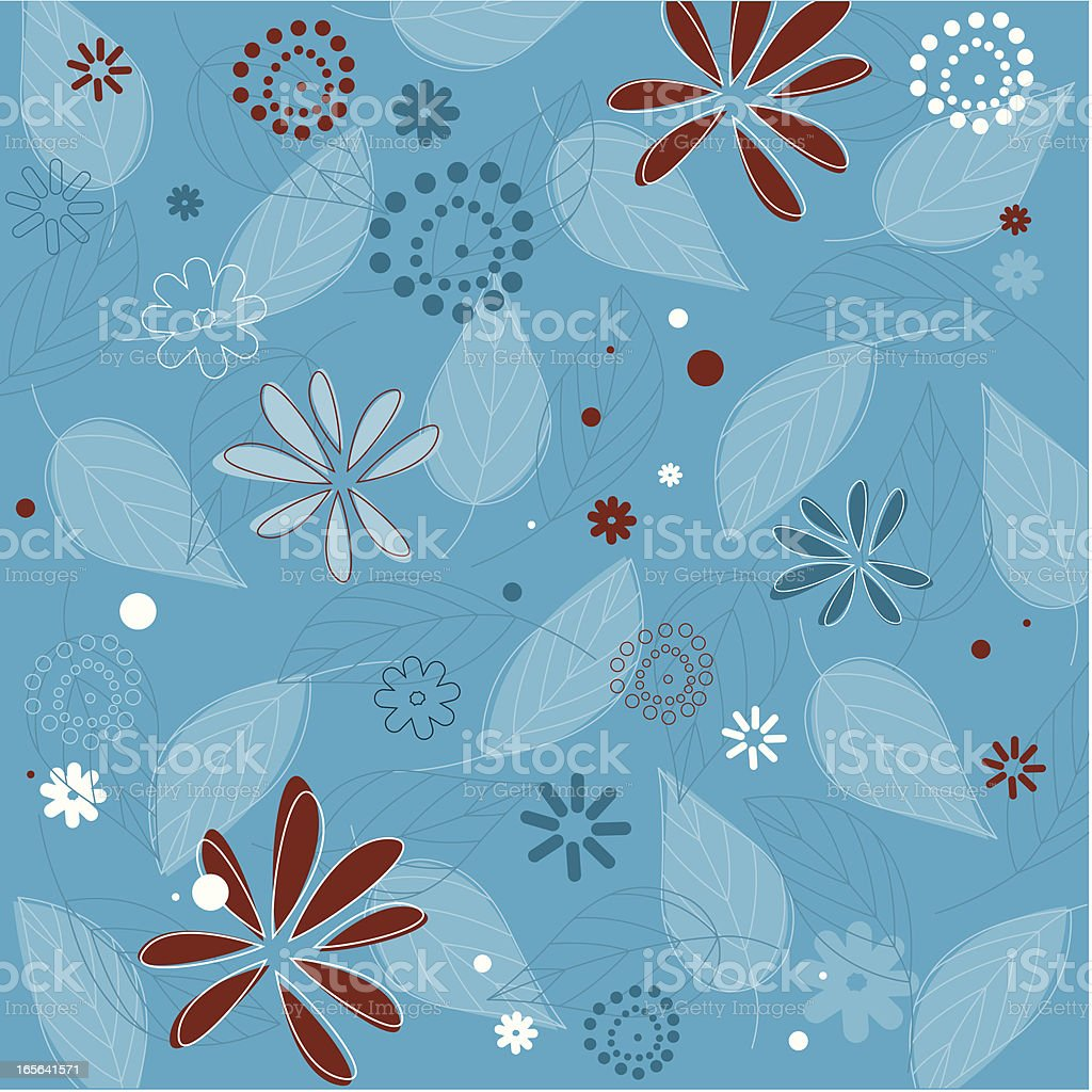 Blue Abstract Floral Background Stock Illustration Download