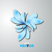 blue abstract floral pattern background