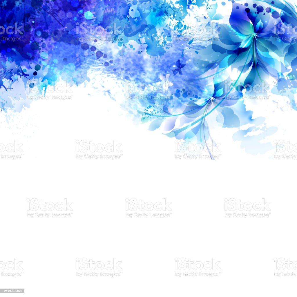 blue abstract flowers Lizenzfreies blue abstract flowers stock vektor art und mehr bilder von abstrakt