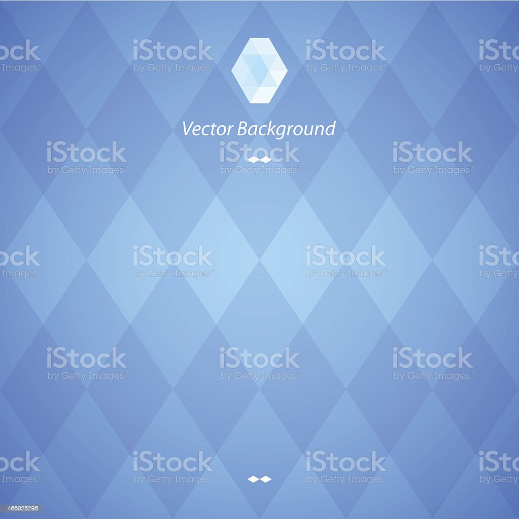 Blue abstract geometric background in blue vector art illustration
