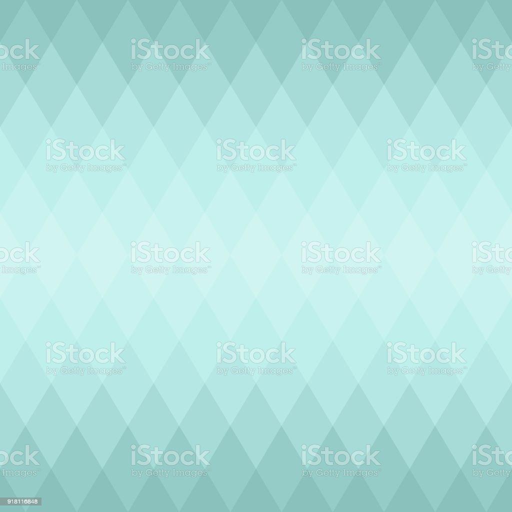 Blue Abstract Geometric Diamond Seamless Pattern Background