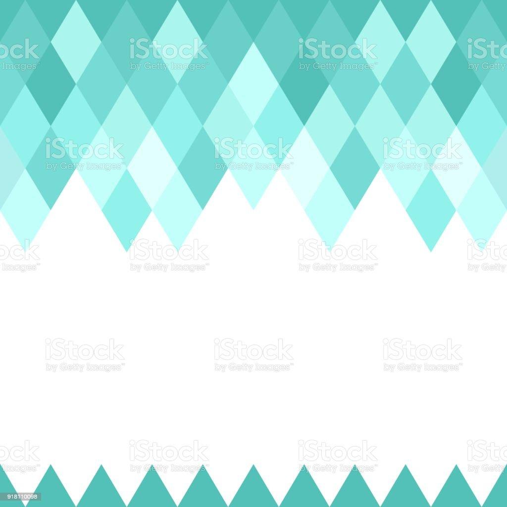 Blue Abstract Geometric Diamond Seamless Texture Pattern