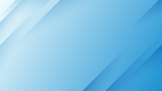 Blue abstract geometric dynamic shape paper layers subtle background vector.