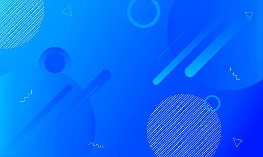 Blue Abstract Geometric Gradient Shape Background