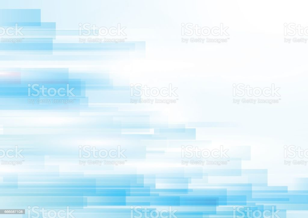 Blue abstract geometric shiny transparent motion technology concept background - ilustración de arte vectorial