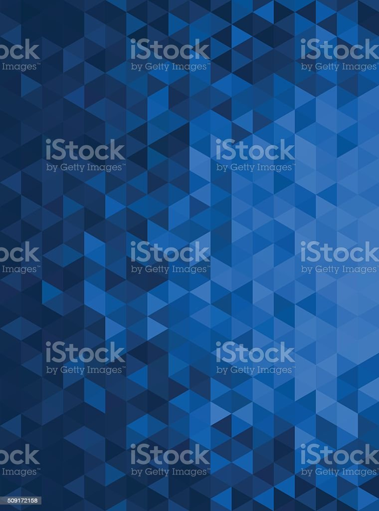 Blue Abstract Geometric Triangle Vertical Background - Vector Illustration royalty-free stock vector art