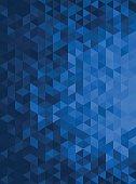 istock Blue Abstract Geometric Triangle Vertical Background - Vector Illustration 509172158
