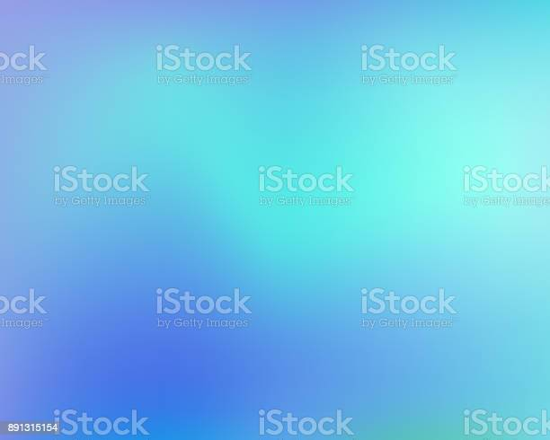 Blue Abstract Gradient Background Vector Illustration Stock Illustration - Download Image Now