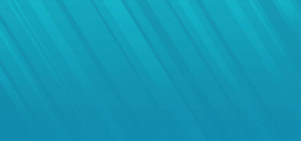 Blue abstract gradient background with rays lines or diagonal geometric stripes as underwater light effect vector backdrop, idea of banner or flyer cover design element image vector art illustration