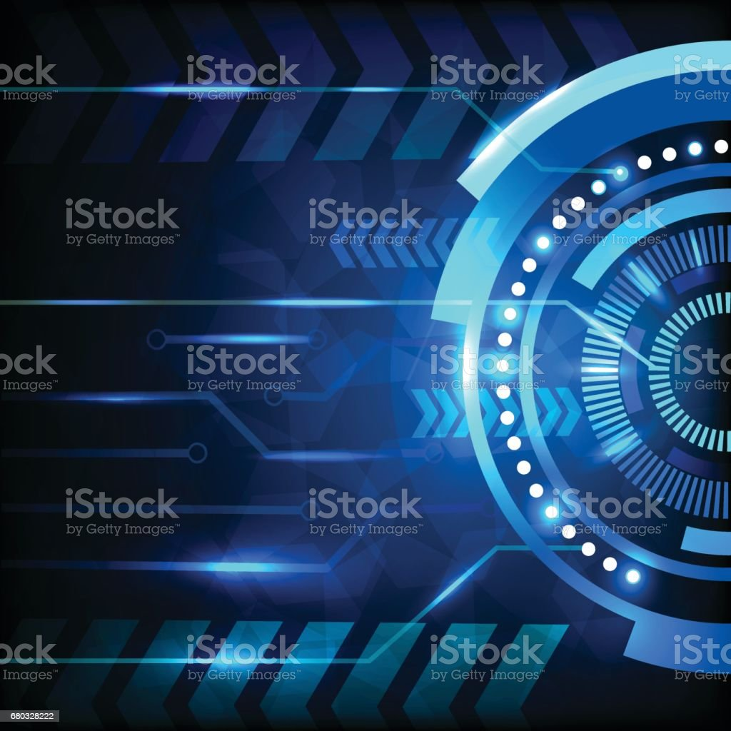 Blue abstract hi-tech background. royalty-free blue abstract hitech background stock vector art & more images of abstract