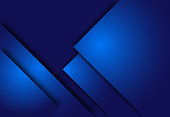 Blue abstract layer geometric background  for card, annual business report, poster template