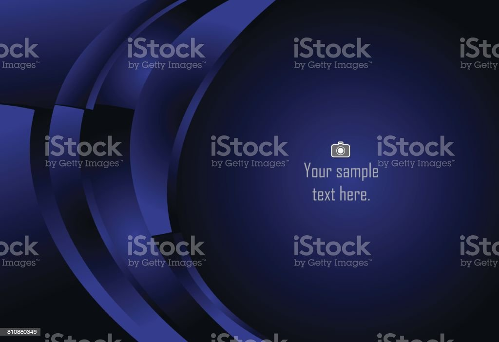 Blue abstract layer geometric curve background  for card, annual business report, poster template vector art illustration
