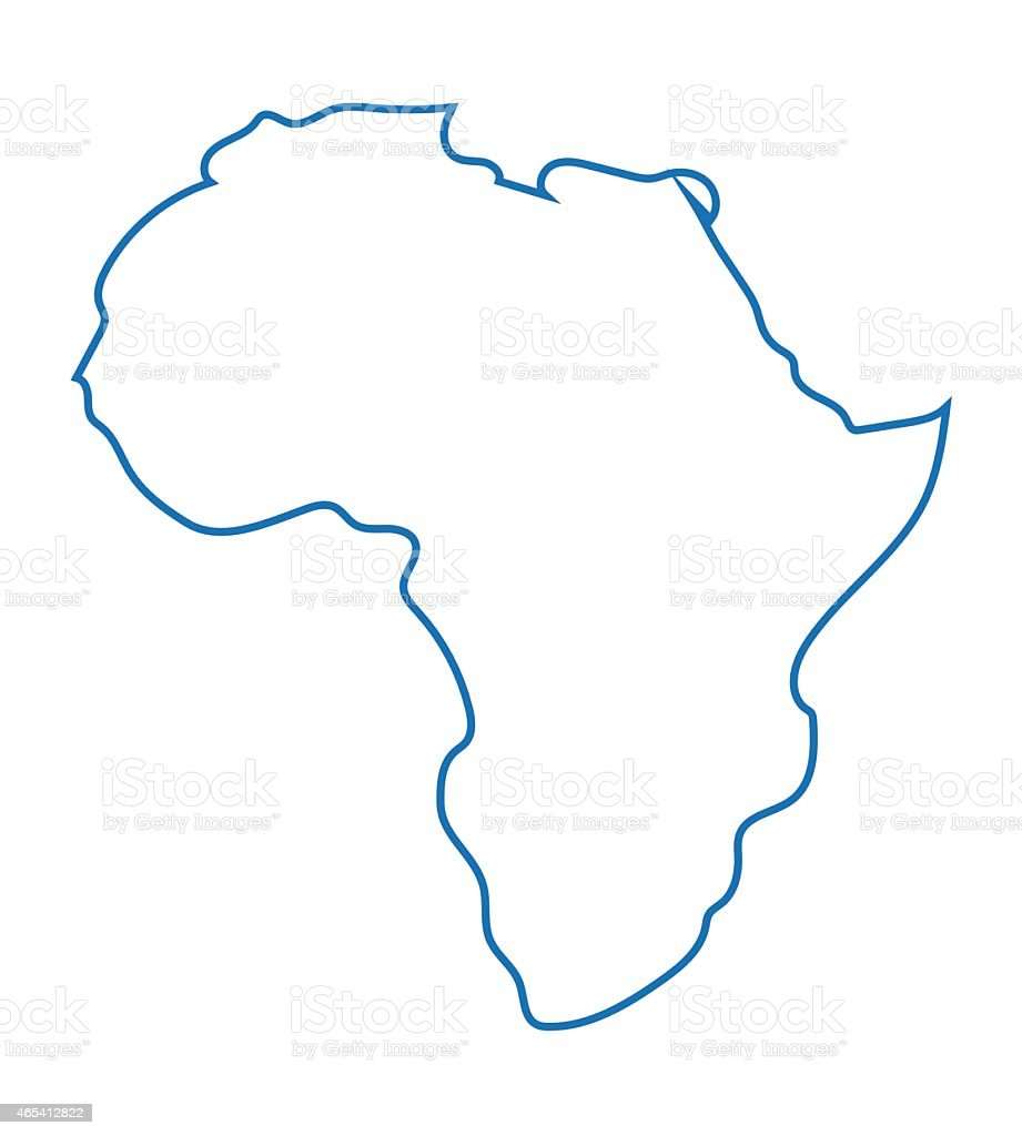 Blaue abstrakte Karte von Afrika – Vektorgrafik