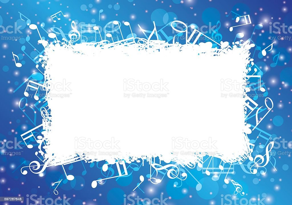 blue abstract musical background with notes and bokeh - vector royalty-free blue abstract musical background with notes and bokeh vector stock vector art & more images of art