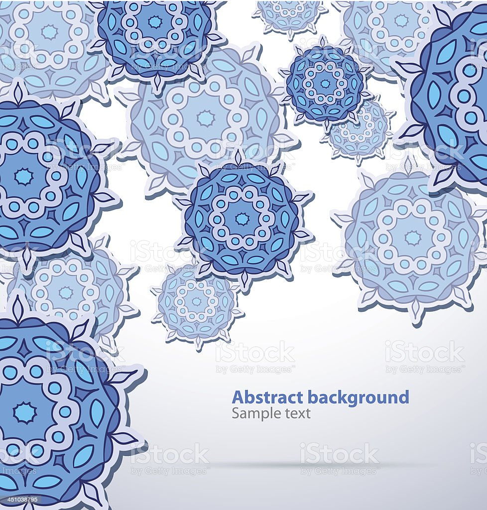 Blue abstract pattern background royalty-free stock vector art
