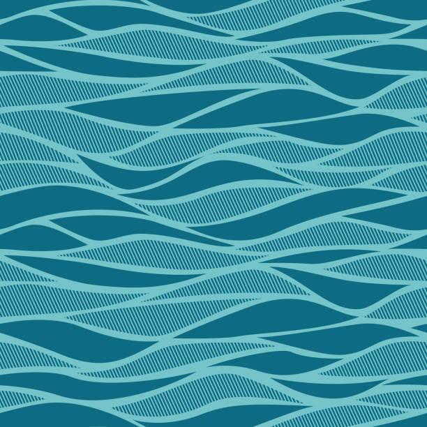 blau abstrakt nahtlose - pflanzenhaar stock-grafiken, -clipart, -cartoons und -symbole