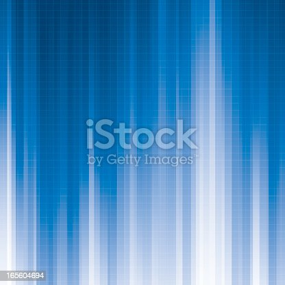 A light filled blue abstract background with a fine grid overlay. Grid is on a separate layer and can be easily removed. Can be tiled horizontally to create an endless width.