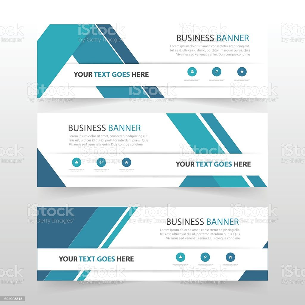 blue abstract triangle corporate business banner template horizontal