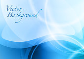 blue abstract background with the wave