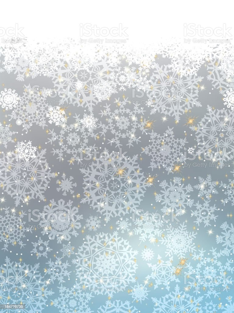 Blue abstract winter card. EPS 8 royalty-free stock vector art