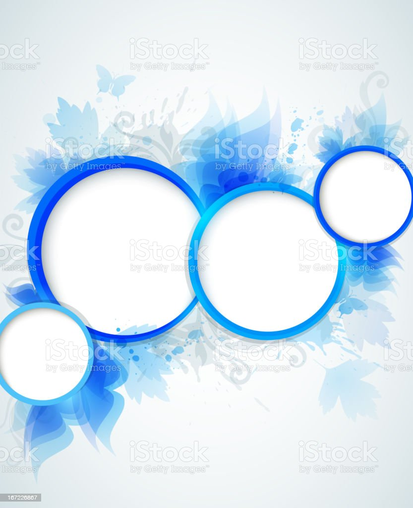 Blue abstraction royalty-free stock vector art
