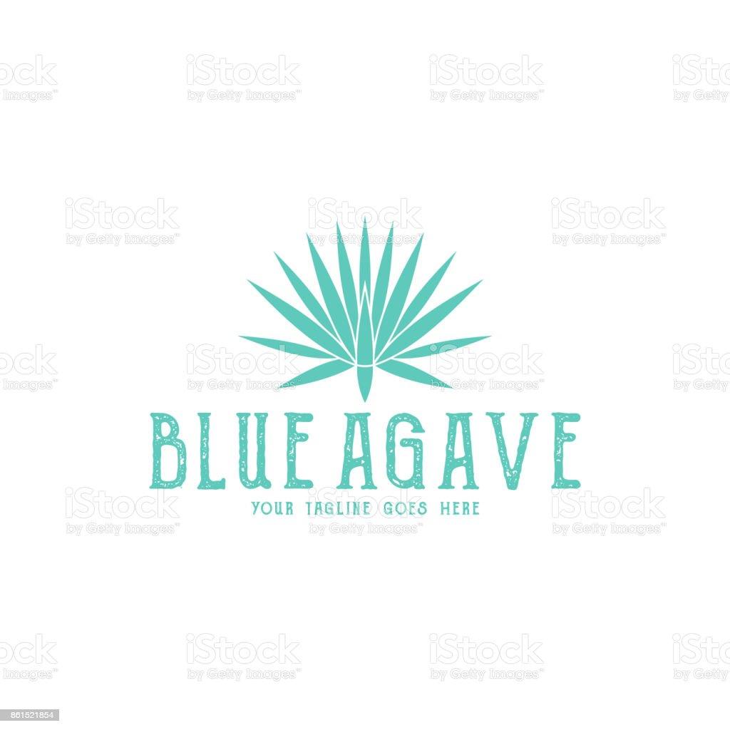 Azul del agave - ilustración de arte vectorial