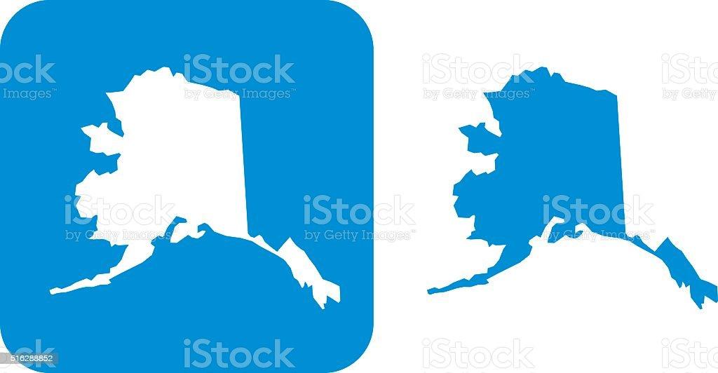 Blue Alaska Icons vector art illustration