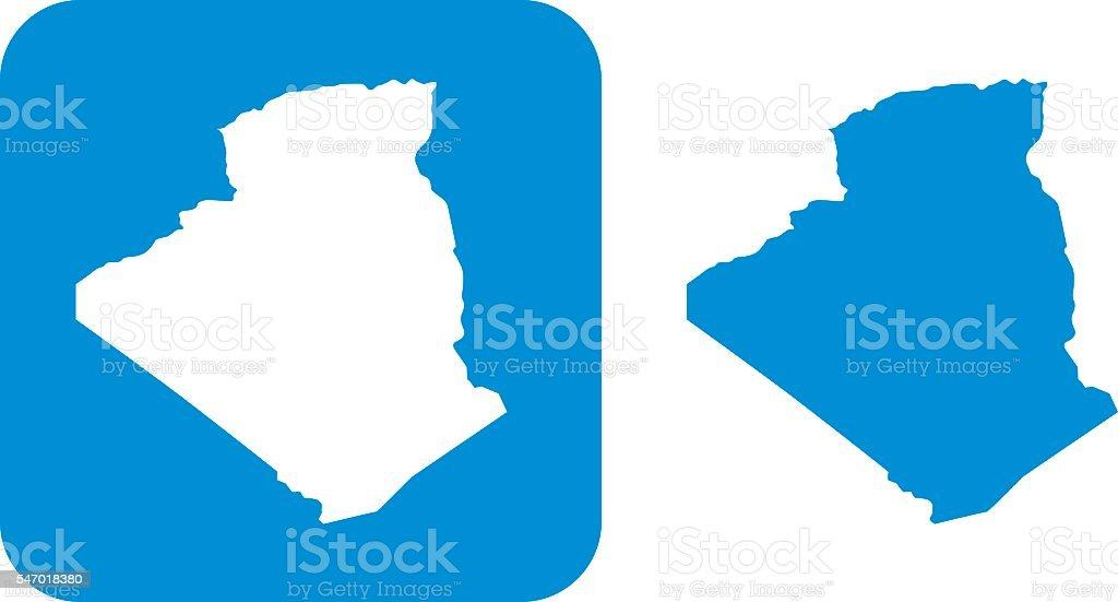 Blue Algeria Icon - 免版稅兩件物體圖庫向量圖形