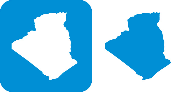 Blue Algeria Icon向量圖形及更多兩件物體圖片