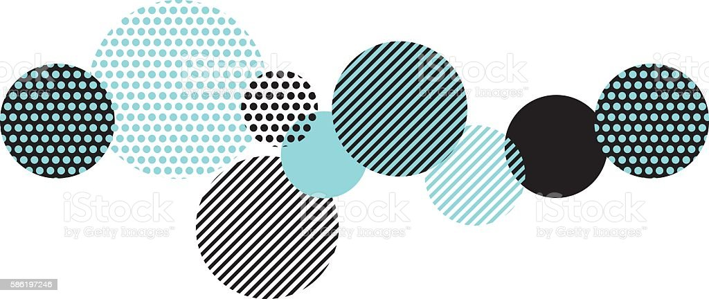 blue and black abstract geometry pattern. modern geometric motif vector art illustration