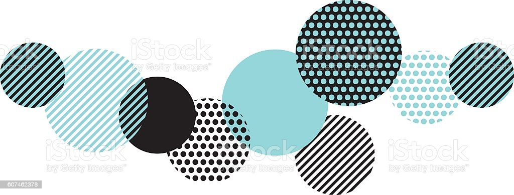 blue and black abstract geometry pattern. - Royalty-free Abstract vectorkunst