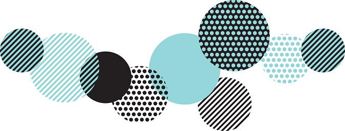 Blue And Black Abstract Geometry Pattern Stockvectorkunst en meer beelden van Abstract