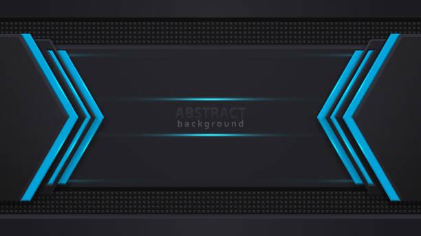 Blau und schwarz Kontrast abstrakte Technologie Hintergrund. Layout Design Tech. Vector Corporate Design. – Vektorgrafik