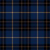 Blue, black and brown Scottish tartan plaid seamless textile pattern background.
