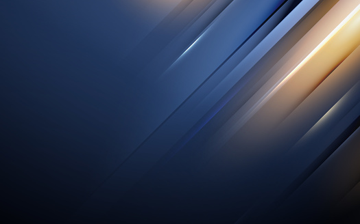 Blue and gold abstract minimal geometric background. Abstract technology Hi-tech futuristic digital. Vector illustration