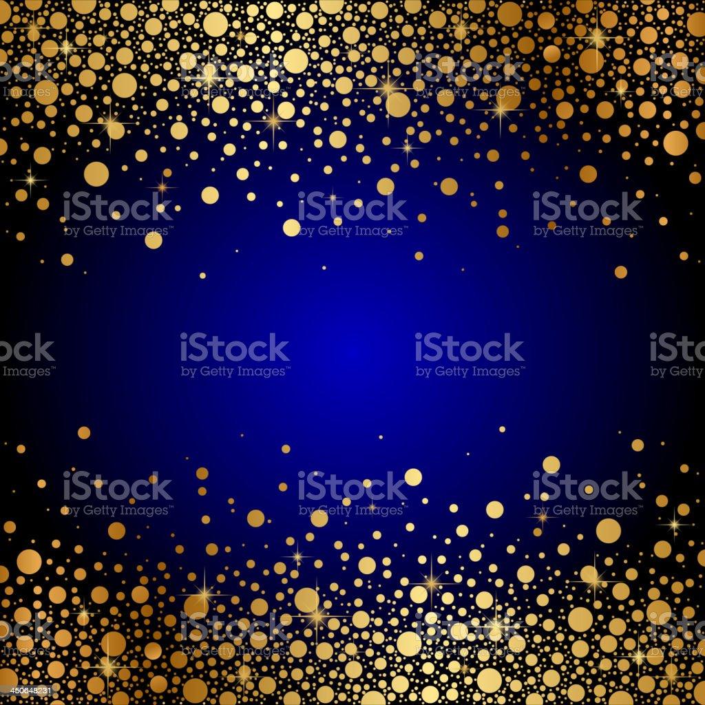 Sfondo Di Lusso Blu E Oro Immagini Vettoriali Stock E Altre