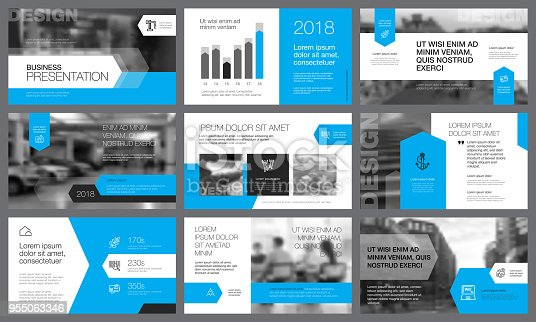 Blue and gray elements for booklet page templates. Business concept can be used for advertising, flyer and banner, catalog and web