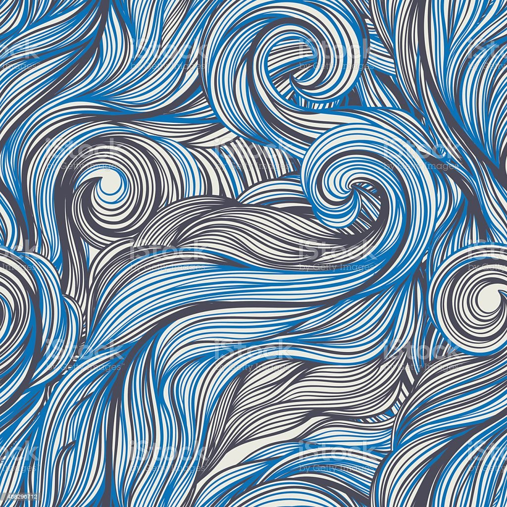 blue and gray line swirls vector art illustration