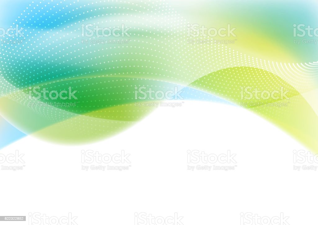 Blue and green abstract shiny waves background vector art illustration