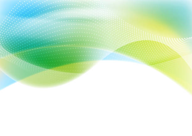 blue and green abstract shiny waves background - abstract backgrounds stock illustrations, clip art, cartoons, & icons