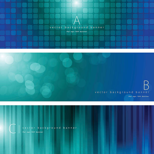blue and green color pattern background banner set - vertical stock illustrations, clip art, cartoons, & icons