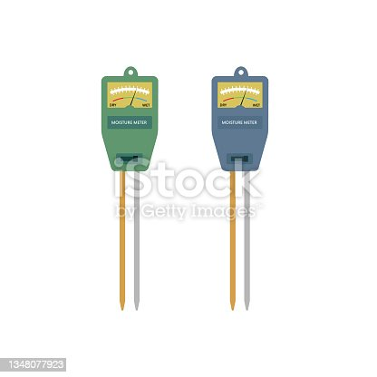istock Blue and green professional moisture meter 1348077923
