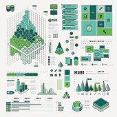 A set of flat design-styled infographic elements. EPS 10 file, with transparencies, layered & grouped,