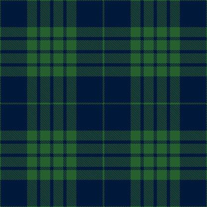 Blue And Green Scottish Tartan Plaid Textile Pattern