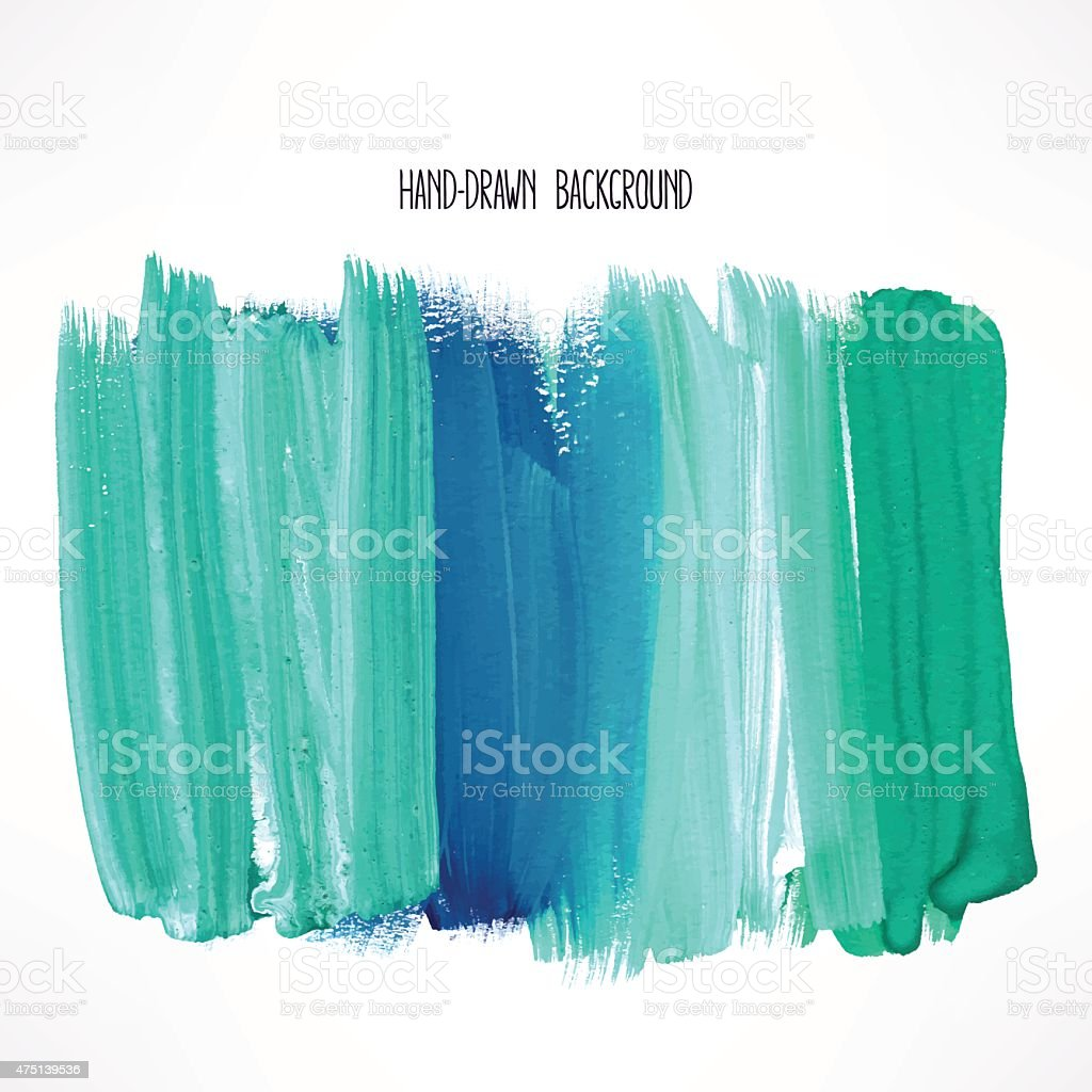 blue and green strokes vector art illustration