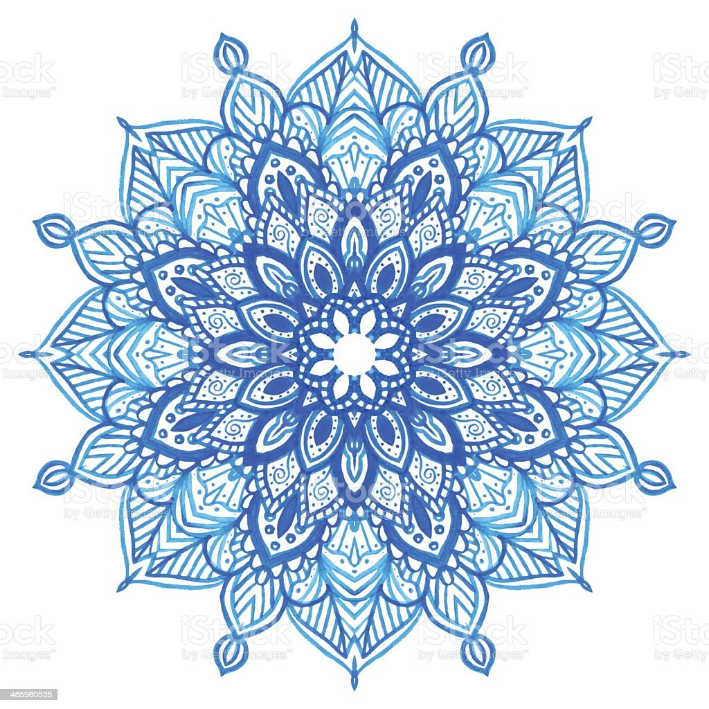 light blue lace mandala - photo #1