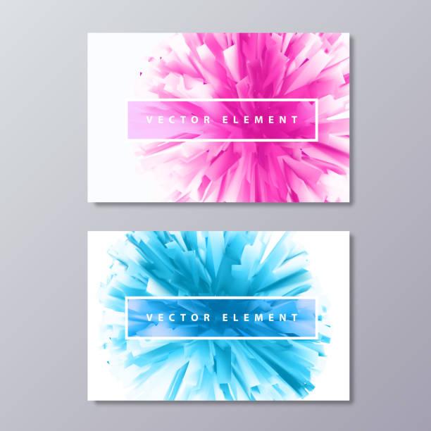 藍色和粉紅色抽象女性設計名片。 - 女性化 幅插畫檔、美工圖案、卡通及圖標