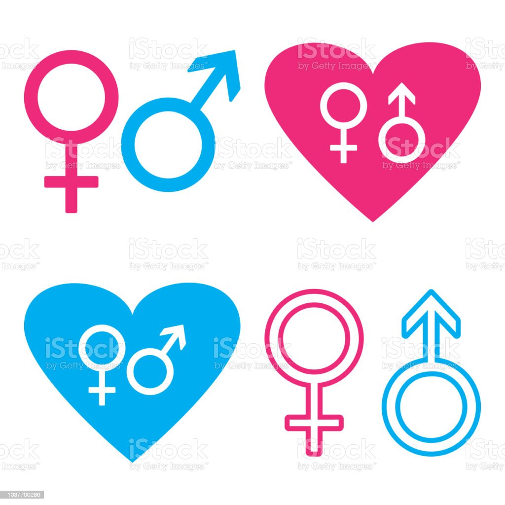 fd262ae8fe78 Blue And Pink Male And Female Symbols Vector Illustration Stock ...
