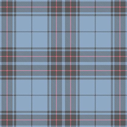 Blue And Pink Scottish Tartan Plaid Textile Pattern