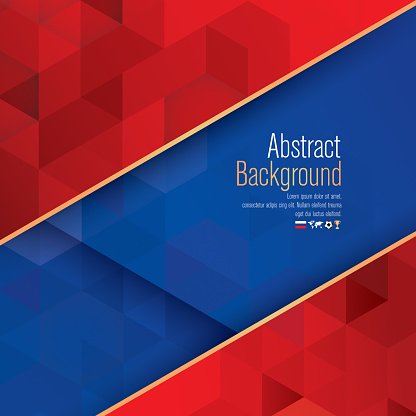 Blue And Red Abstract Background Vector Stock Illustration
